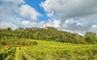 Direkter Weingartenweg Pfarrkirche und Wetterkreuz