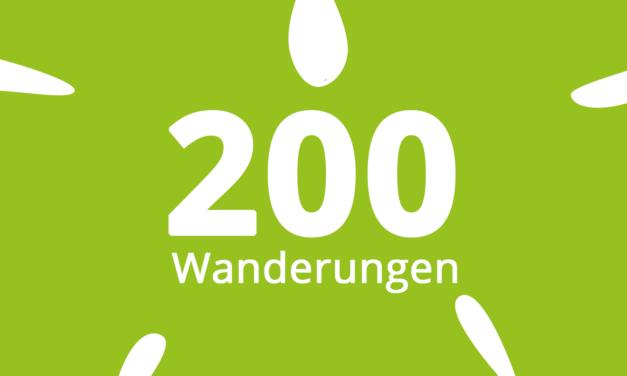 200 Wanderungen online!