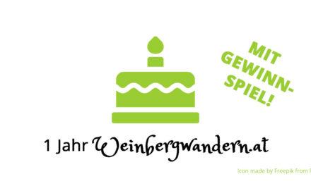 1 Jahr Weinbergwandern.at – mit Gewinnspiel!