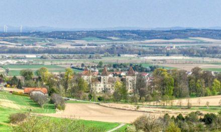 Der ehemalige Wanderweg Inzersdorf-Getzersdorf Südwest (rot)